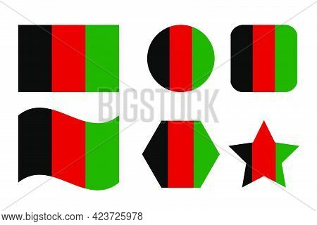Afghanistan Flag Simple Illustration For Independence Day Or Election. Simple Icon For Web