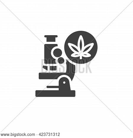 Medical Cannabis Research Vector Icon. Filled Flat Sign For Mobile Concept And Web Design. Cannabis
