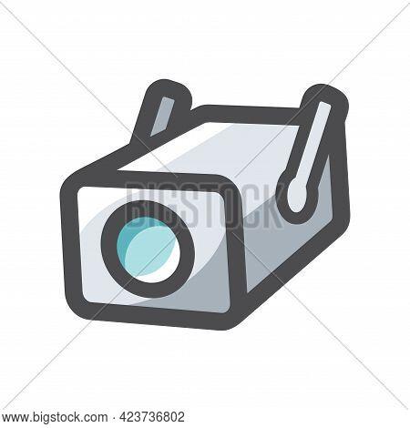 Surveillance Camera Security Vector Icon Cartoon Illustration.
