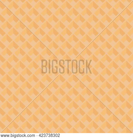 Seamless Pattern With Waffle Texture. Vector Wafer Background.