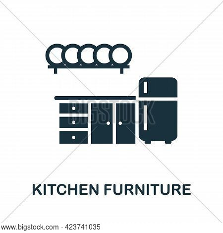 Kitchen Furniture Icon. Monochrome Simple Element From Housekeeping Collection. Creative Kitchen Fur