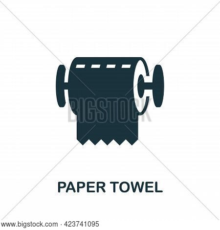 Paper Towel Icon. Monochrome Simple Element From Housekeeping Collection. Creative Paper Towel Icon