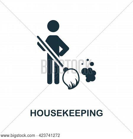 Housekeeping Icon. Monochrome Simple Element From Housekeeping Collection. Creative Housekeeping Ico