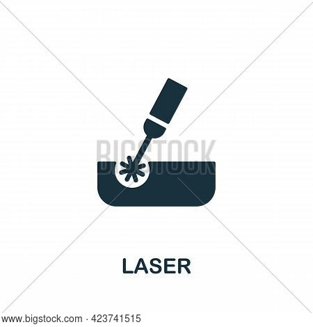 Laser Icon. Monochrome Simple Element From Manufacturing Collection. Creative Laser Icon For Web Des