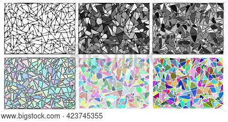 The Mosaic Is Made Up Of Triangles Intersecting Each Other. Coloring. Antistress. A Set Of Geometric