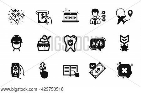 Vector Set Of Winner Medal, Third Party And Atm Service Icons Simple Set. Music Making, Accepted Pay