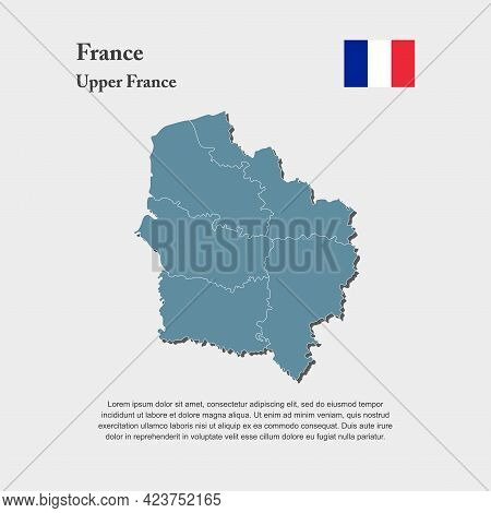 Map Region Country France, Region Upper France