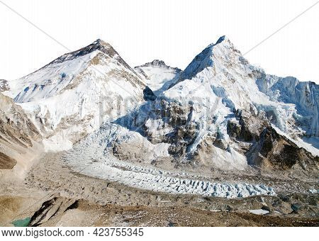 Beautiful View Of Mount Everest, Lhotse And Nuptse From Pumo Ri Base Camp - Way To Everest Base Camp