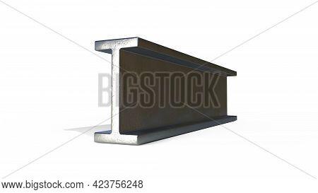 I-beam Metal Profile - Isolated Cgi Industrial 3d Illustration