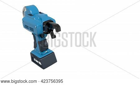 Electrical Rebar Wire Tier Tool. Isolated Concept Industrial 3d Illustration
