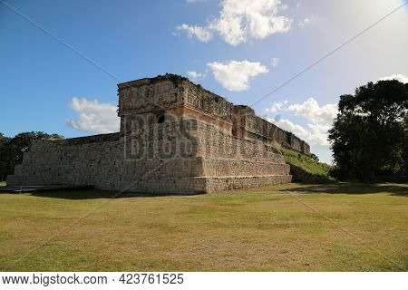 The Governors Palace In Uxmal, Mexico. High Quality Photo