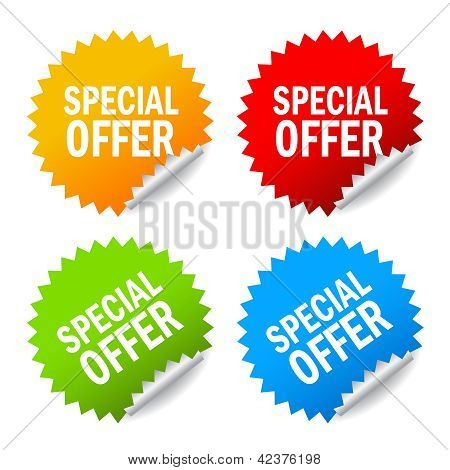 Vector special offer labels set