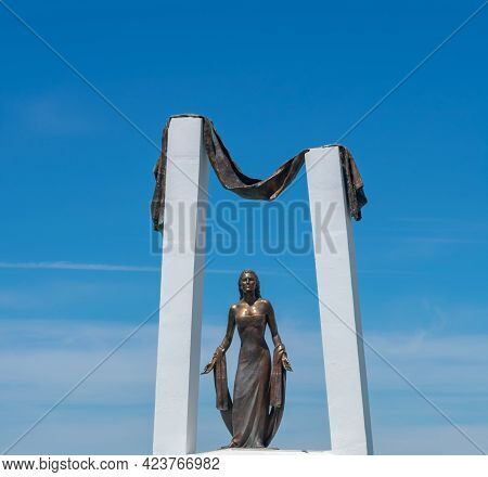 Monument To Rocío Jurado In Chipiona In The Province Of Cadiz. Andalusia. Spain. Europe. May 2, 2021