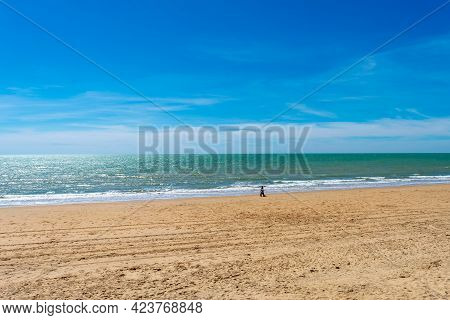 Chipiona Beach In The Province Of Cadiz. Andalusia. Spain. Europe.