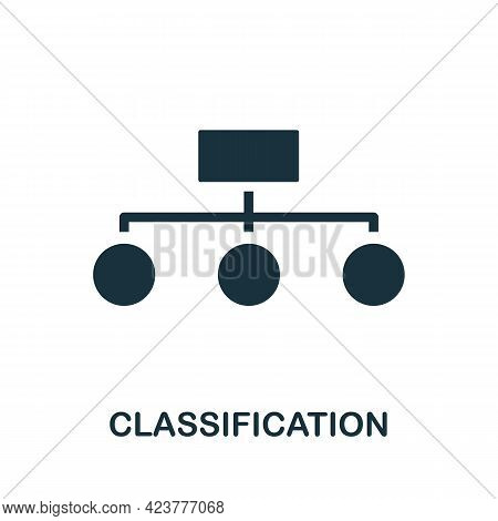 Classification Icon. Simple Creative Element. Filled Monochrome Classification Icon For Templates, I