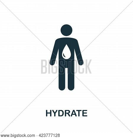 Hydrate Icon. Simple Creative Element. Filled Monochrome Hydrate Icon For Templates, Infographics An