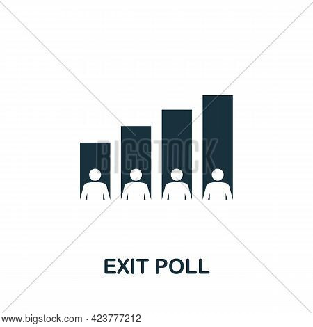 Exit Poll Icon. Simple Creative Element. Filled Monochrome Exit Poll Icon For Templates, Infographic