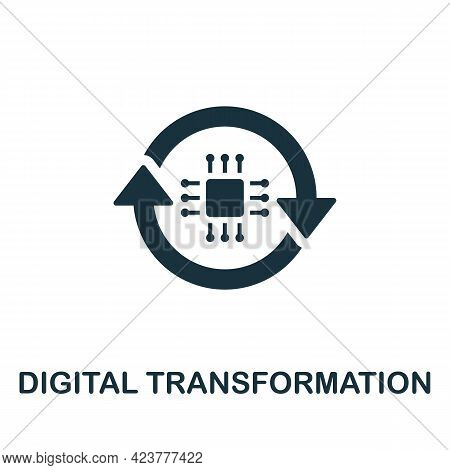 Digital Transformation Icon. Simple Creative Element. Filled Monochrome Digital Transformation Icon