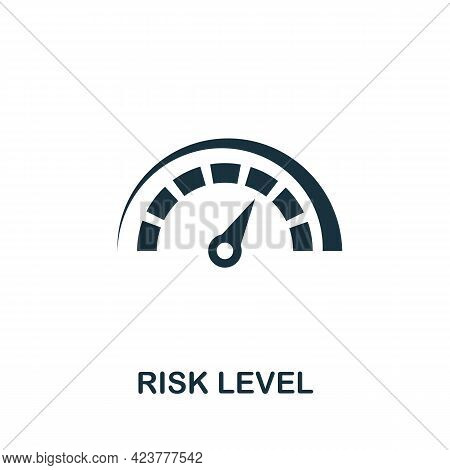 Risk Level Icon. Simple Creative Element. Filled Monochrome Risk Level Icon For Templates, Infograph