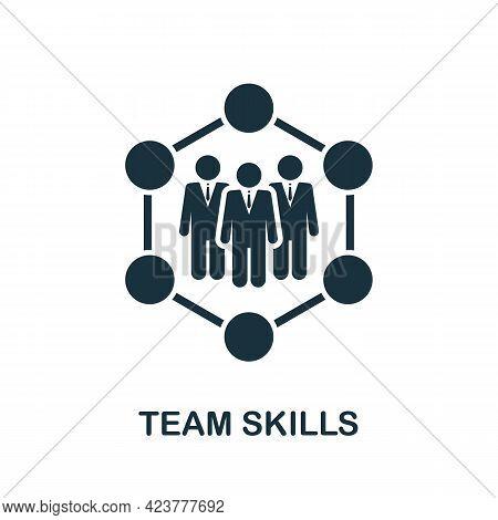 Team Skills Icon. Simple Creative Element. Filled Monochrome Team Skills Icon For Templates, Infogra