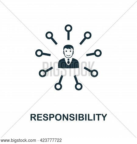 Responsibility Icon. Simple Creative Element. Filled Monochrome Responsibility Icon For Templates, I
