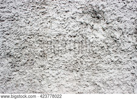 Wall Covered With Coarse Putty. Abstcract Background