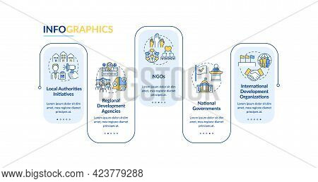 Society Programs Vector Infographic Template. Local Initiatives Presentation Outline Design Elements