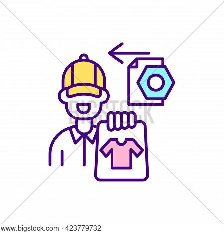 Marketplace Order Management Rgb Color Icon. Online Seller. Isolated Vector Illustration. Managing P