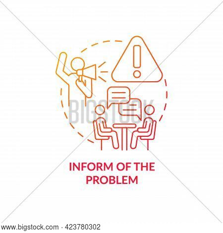 Informing About Problem Concept Icon. Racism At Work Abstract Idea Thin Line Illustration. Investiga