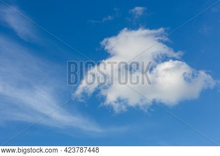 nice white summer clouds in blue sky