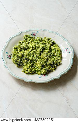 Tirokafteri Girit Appetizer. Cretan Dish With Yogurt, Garlic And Cheese. Greek Food.