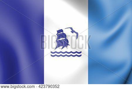 3d Flag Of Rio Gallegos (santa Cruz), Argentina. 3d Illustration.