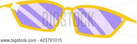 Rockstar Glasses Vector Isolated On White Background. Children Book Illustration Graphics. Fashion S