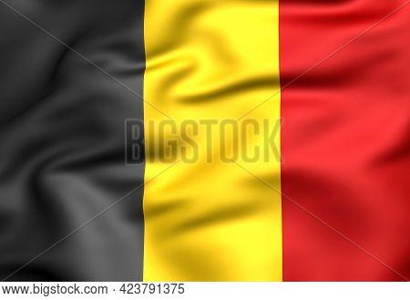 3d Flag Of The Belgium. 3d Illustration.