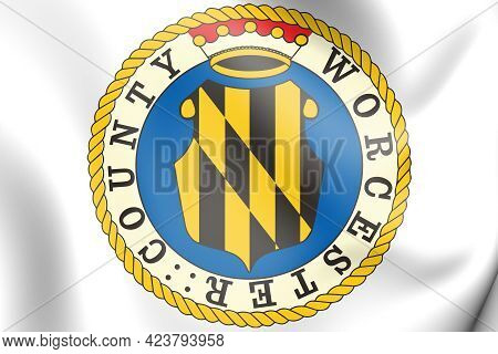 3d Seal Of Worcester County (maryland), Usa. 3d Illustration.