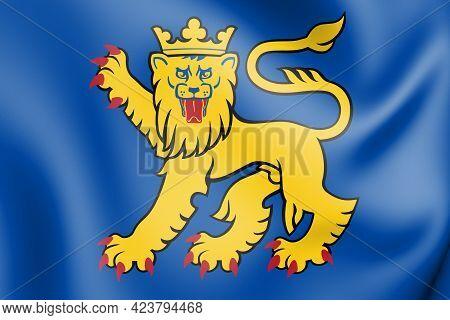 3d Uppsala Kommun Coat Of Arms, Sweden. 3d Illustration.