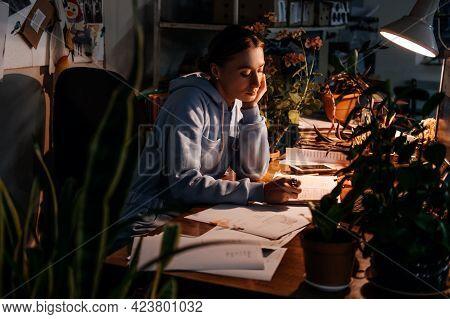 Worker Burnout, Hours Overtime, Emotional Burnout, Mental Health Problem. Tired Businesswoman, Worke