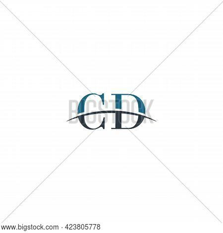 Initial Letter Cd, Overlapping Movement Swoosh Horizon Logo Company Design Inspiration In Blue And G
