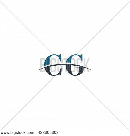 Initial Letter Cg, Overlapping Movement Swoosh Horizon Logo Company Design Inspiration In Blue And G