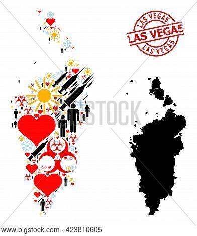 Rubber Las Vegas Seal, And Frost Customers Covid-2019 Treatment Collage Map Of Krasnoyarskiy Kray. R