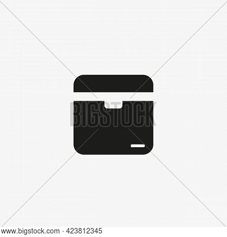 Office Cardboard Box Vector Icon. Archive Storage Box  For Web And Mobile Apps.
