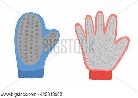 Pet Hair Remover Brush Gloves. Pet Grooming Tools Set. Dog And Cat Care, Grooming, Hygiene, Health,