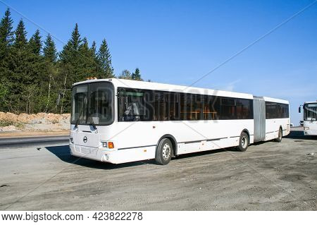 Chelyabinsk Region, Russia - May 24, 2008: Brand New Articulated City Bus Liaz 6212 At The Intercity