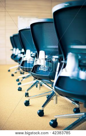 meeting room, empty chairs