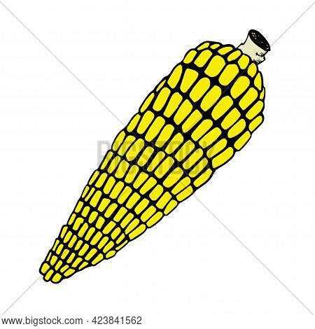 Corn Cob Clipart Isolated On White Background