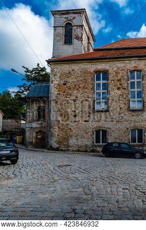 Bougszow-gorce, Poland - July 7 2020: Street View Of Pentecostal Church