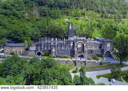 Sanctuary Of Our Lady Of Meritxell Is A Basilica Located In The Town Of Meritxell, In The Andorran P