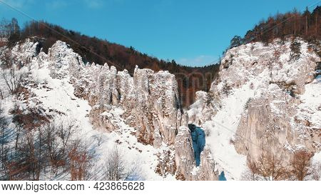 Panoramic View Of The Rocky Area Of Wawoz Bolechowicki Or Bolechowice Valley. Main Tourist Attractio