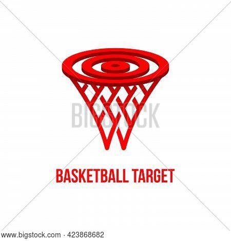 Basketball Ring Bullseye Logo Vector Template Eps