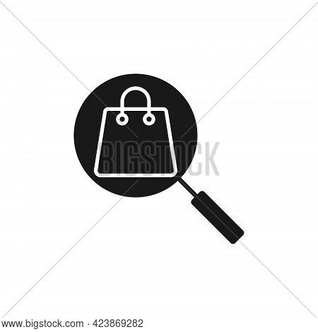 Shopping Bag with Search icon. Shopping Bag icon. Shopping icon. Shopping Bag vector icon. Shopping Bag icon vector. Online Shopping icon. Shopping Bag icon logo set. Shopping Bag with Search vector icon design for web, logo, sign, symbol, app